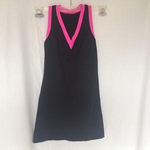 Lululemon long racer back tank top 4 black pink